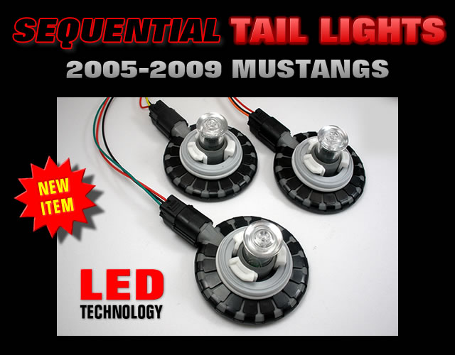 2005-2009 Mustang LED sequential tail lights