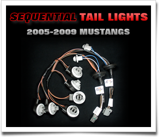 2005-2009 Mustang sequential tail light harnesses