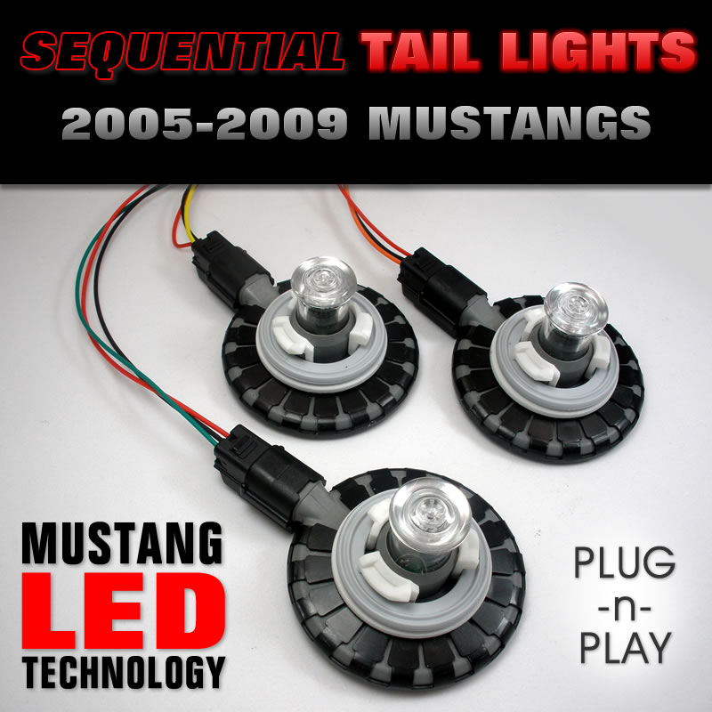 2005-2009 Mustangs LED Bulbs in Harness