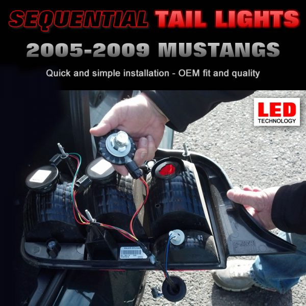 2005-2009 Mustang LED Sequential Tail Light Harness Kit Installation