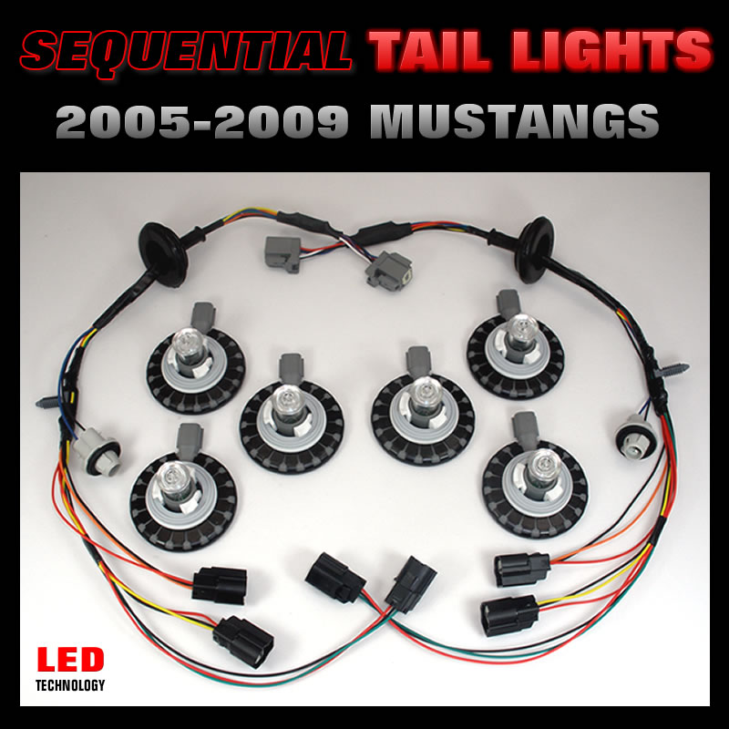 2005-2009 Mustang LED Sequential Tail Light Harnesses Kit