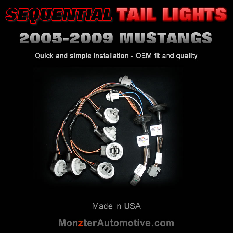 2005-2009 Mustang Sequential Tail Light Harness Kit