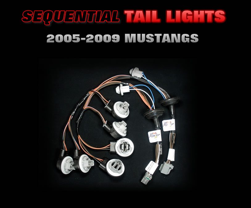 2005 thru 2009 Mustang Sequential tail light harnesses
